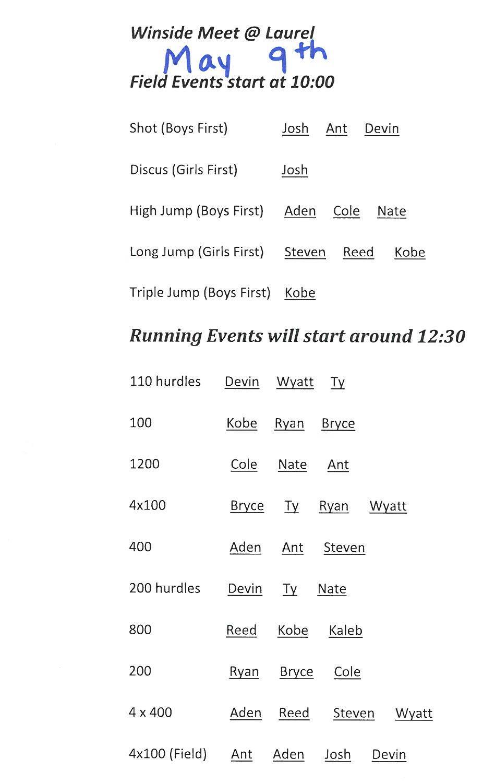 Lcc Calendar 2022.Allen Consolidated Schools Jh Track Schedule Lcc Winside Invite